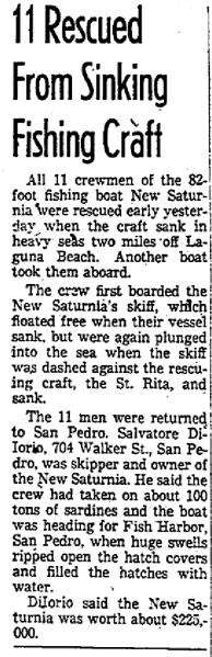 New Saturnia 14 November 1955